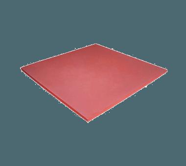 Tapete plano de silicona rojo